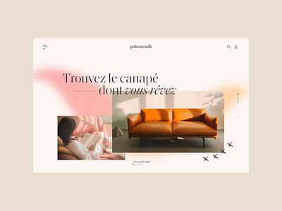Poltronesofa - Homepage Animation ui design website webdesign uiux luxury sofa furniture elegant ecommerce ux ui animation homepage design branding brand identity