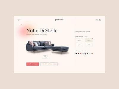 Poltronesofa - Product Customisation Animation brand brand identity branding app customisation custom animation