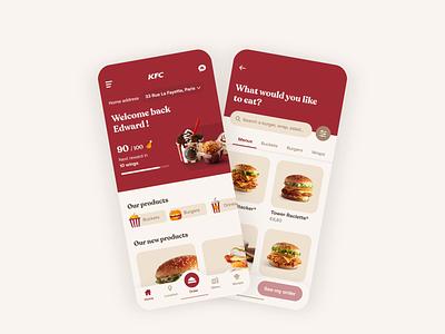KFC - Homepage Animation mobile app design ui ux concept app design clean web uidesign gif brand food food app kfc branding animation ux ui design ui design mobile app