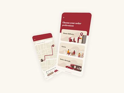 KFC - Food Delivery UI ui design uiux brand branding mobile app mobile ui mobile webdesign web kfc food delivery food app food ui ux ux ui design app
