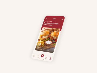 KFC - Homemade Recipe UI Animation uidesign ux design tutorial recipe branding brand web design kfc ui design mobile ui gif animation mobile app mobile food app food design ux uiux ui