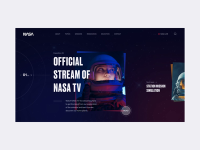 NASA - Homepage Animation moon redesign homepage rocket planet space nasa webdesign website interface branding animation mobile responsive web ui design uiux ux ui design