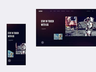 NASA - Networks Homepage Animation artdirection interface digital responsive mobile moon astronaut webdesign website web planet space nasa animation ui design branding design ux ui uiux