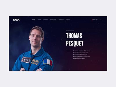 NASA - Parallax Animation 1 motionui uianimation interface webdesign web digital responsive thomas pesquet universe astronaut space nasa animation ui design uiux branding ux ui design