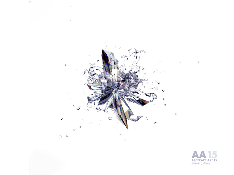 Abstract Art 15 lightning modeling precious stone graphisme cinema 4d design c4d art arnold abstract 3d