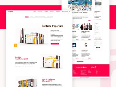Naoden's website redesign