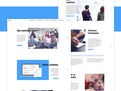 Myscript's website redesign