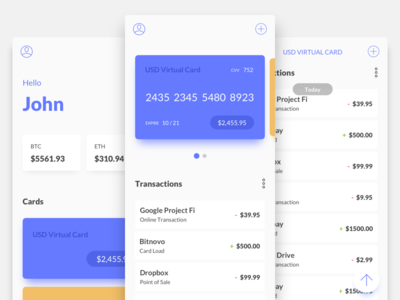Simple Wallet Interface crypto ui interface wallet