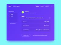 DMT Dashboard appdesign dashboard ui interface crypto