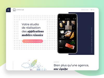 AppStud - Website webpage design design studio web interface interface ui ux website web newquest design