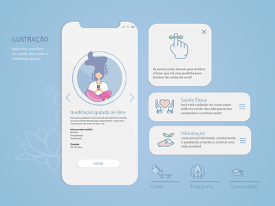 Mental Healthcare app design design ui illustration icon