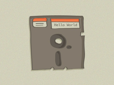 floppy disk drawing the80s retro illustration