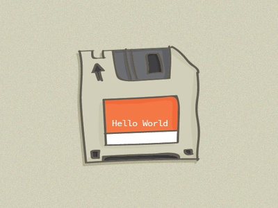 floppy disk 2 drawing the80s retro illustration