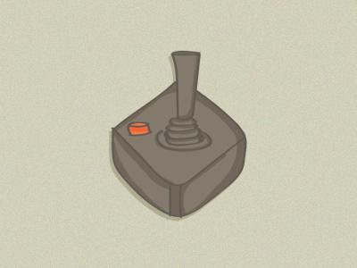 Atari drawing the80s retro illustration