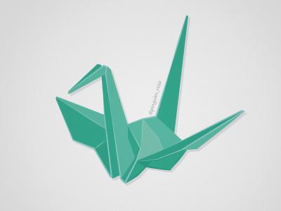 TSURU origami illustration