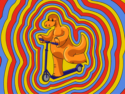Dino illustration dinosaurus design illustration digital paint