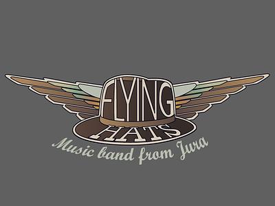 Flying Hat logo logo hat