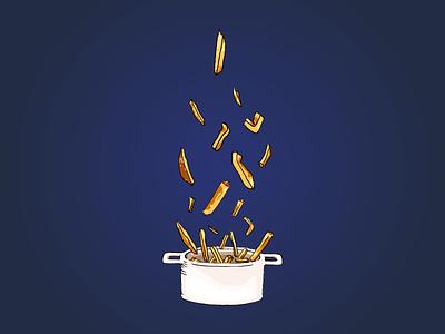 HANDMADE FRIES fries food illustration