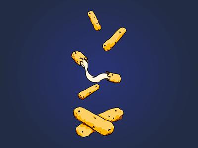 Mozzarella Sticks illustration food