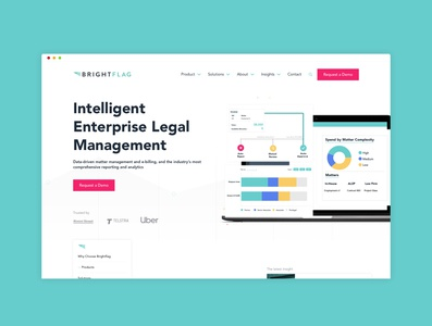 Brightflag tech law firm law website web abstract legal legaltech ai design ui