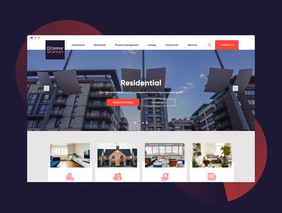 O'Connor Shannon website property developer property house household design ui