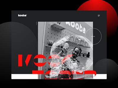 Kooba 2020 Mocktober Landing page mockup landingpage website concept spooky halloween mocktober2020 mocktober