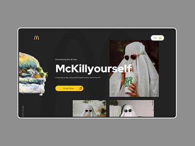 Mocktober 2021 - McDonald's Halloween ui restaurant burger food landingpage mockup mcdonalds halloween mocktober2021 elegant seagulls mocktober