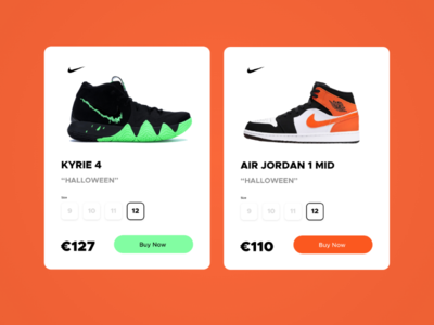 Nike product card design