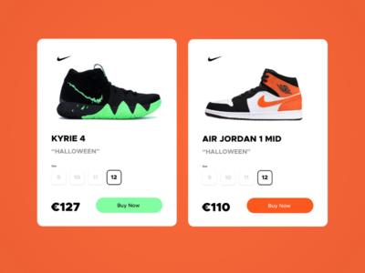 Nike product card design