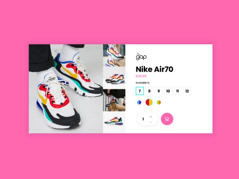Nike Product card nike shop product shoe sneaker