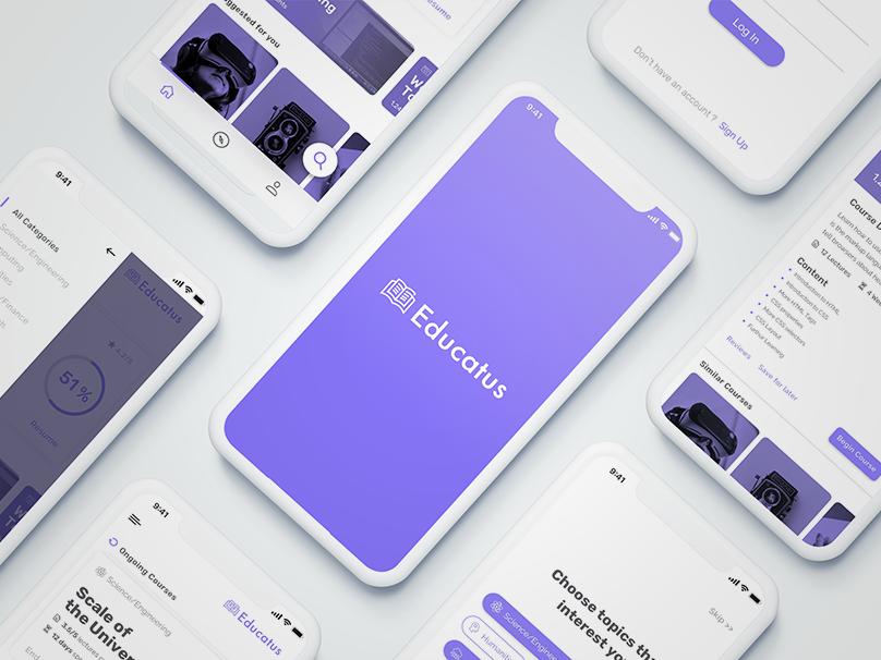 E Learning App Design By Yashodhar Upadhyay Dribbble Dribbble