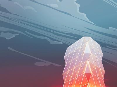 hav u hearst? hearst tower illustration architecture