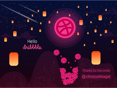 Hello, Dribbble, It's My First Shoot!