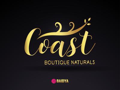 Coast Boutique Naturals Logo design