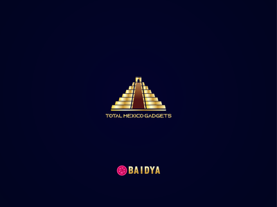 Mexican pyramid logo design