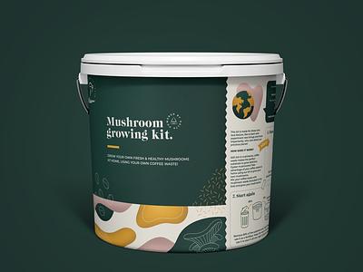 bucket to grow mushrooms out of coffee waste coffee mushrooms kit packaging bucket