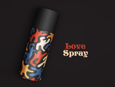 love spray colors character design art branding illustration illustrator spraycan spray love packaging