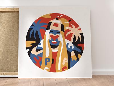 Peace modern character design colors art illustration palmtrees love fashion hype matisse thug
