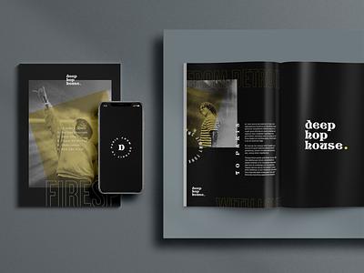 Deep hop house project brandidentity brand magazine musician house hiphop music layout