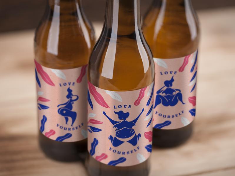 Girls love beers ! girl illustration chubb women beers packaging girl
