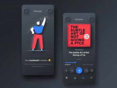 Audiobook App - Neumorphism style