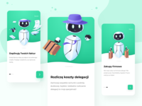 Tivano App - Onboarding purple application mobile app mobile typogaphy shopping invoice robot green office manager manager office app sketch colors ux ui design