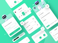 Tivano App - Components scanning input contact icons components dashboard login calendar robot invoice application green typography designer app sketch colors ux ui design