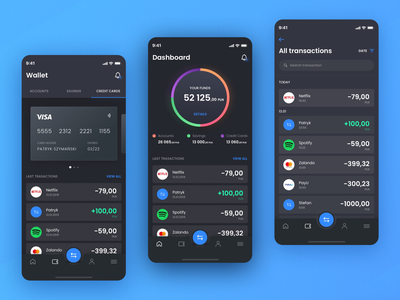 Banking App blue money app money dashboard app creditcard transactions banking banking app concept app colors ux ui sketch design app
