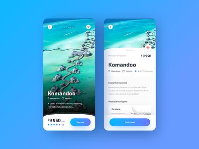 Travely - Travel App v2 komandoo holliday booking app travel app traveling travel concept app colors ui ux sketch design app