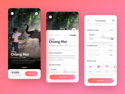 Travely - Travel App Final thai thailand travelling explore designer travel app travel concept app colors ux ui sketch design app