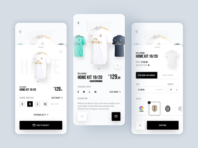 Real Madrid E-Commerce App halamadrid white españa madrid real real madrid ecommerce design ecommerce shop ecommerce app ecommerce onlinestore online shop store concept app colors ux ui sketch design