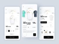Real Madrid E-Commerce App Concept