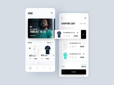 Real Madrid E-Commerce App Concept Part 2