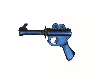 Blaster Pistol Illustration illustration digital sketch sticker design stickermule clites pistol blaster illustration design procreate design sticker illustration